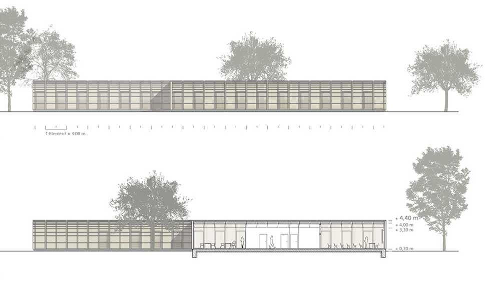 Architekturbüro Johannes Pellkofer | BKZ Luckau Ansichten